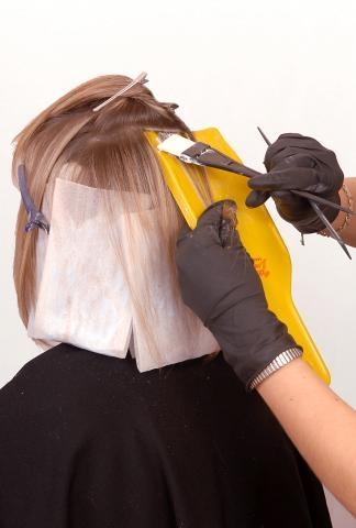 Reflejos tejidos en área exterior Corte con desconexión interna